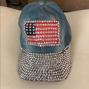 Distressed bling cap